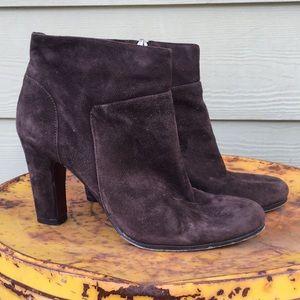 Sam Edelman Selina brown suede heeled boot 301